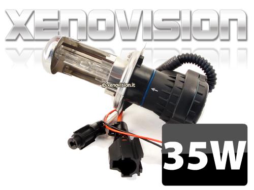 H4 Bixenon 3000k Lampada 35W - Giallo Rally Dorato - Innesti Ket