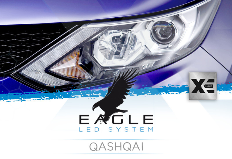 Kit Anabbaglianti LED Specifico per Nissan Qashqai 2014 in poi