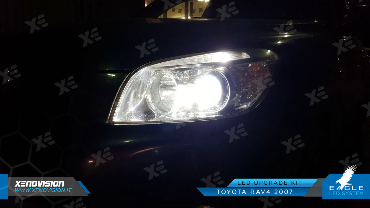 Kit Anabbaglianti LED Specifico per Toyota Rav4 III Serie dal 2006 al 2013