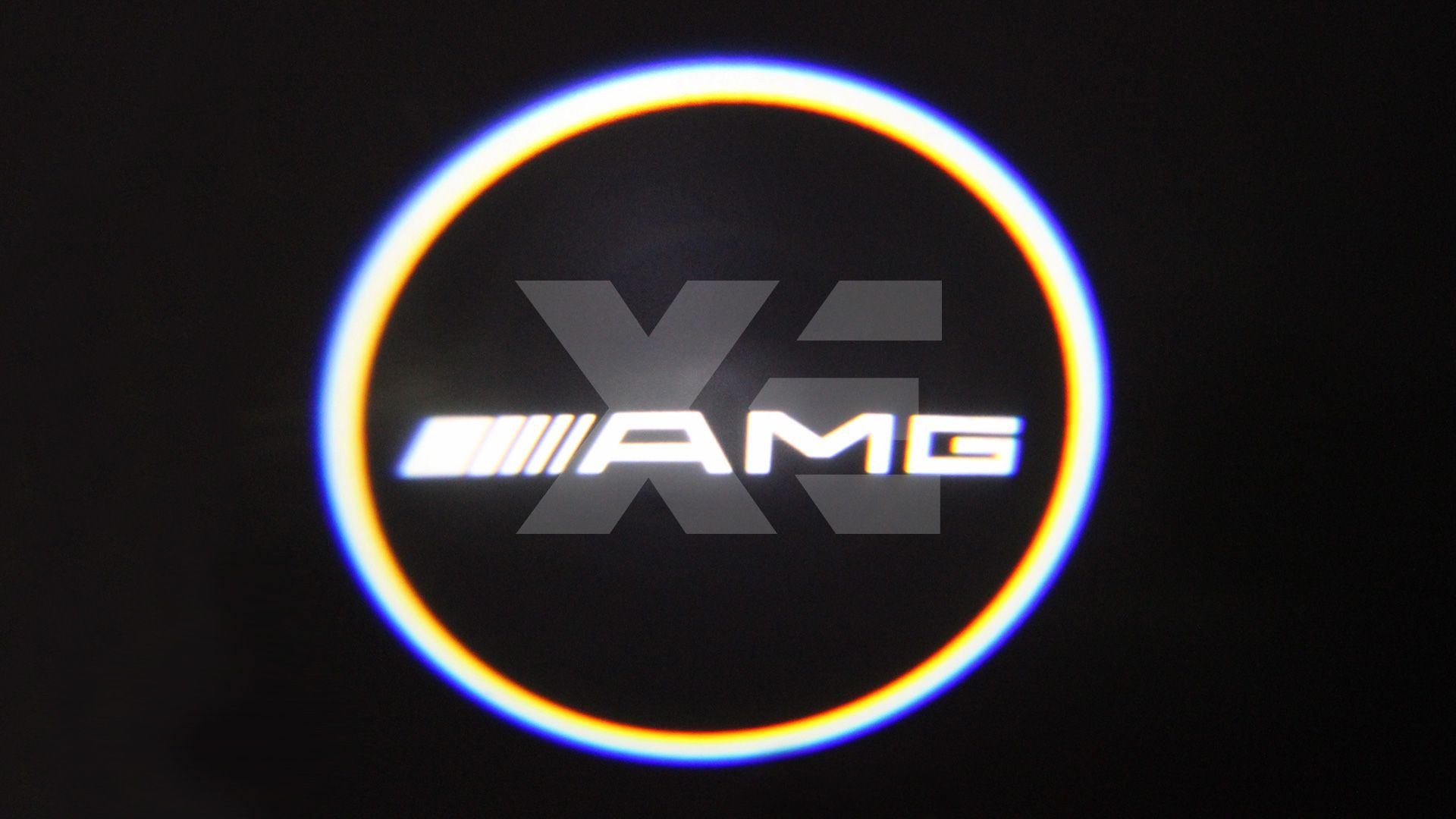 Kit Placche Led Sottoporta Proiettore Logo Mercedes AMG - Classe CL W216 Classe S W221