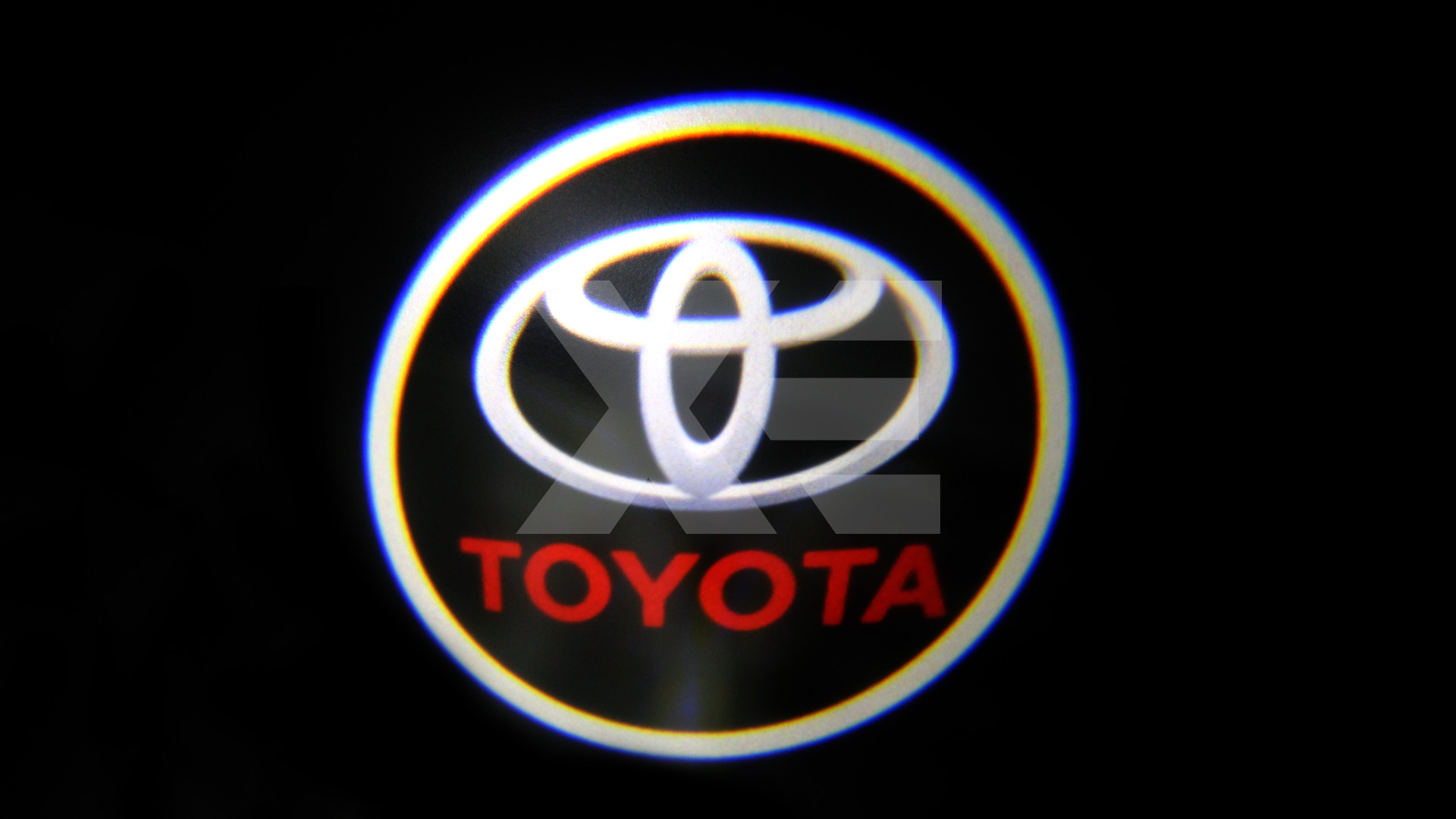 Kit Placche Led Sottoporta Proiettore Logo Toyota - Prius Land Cruiser Camry