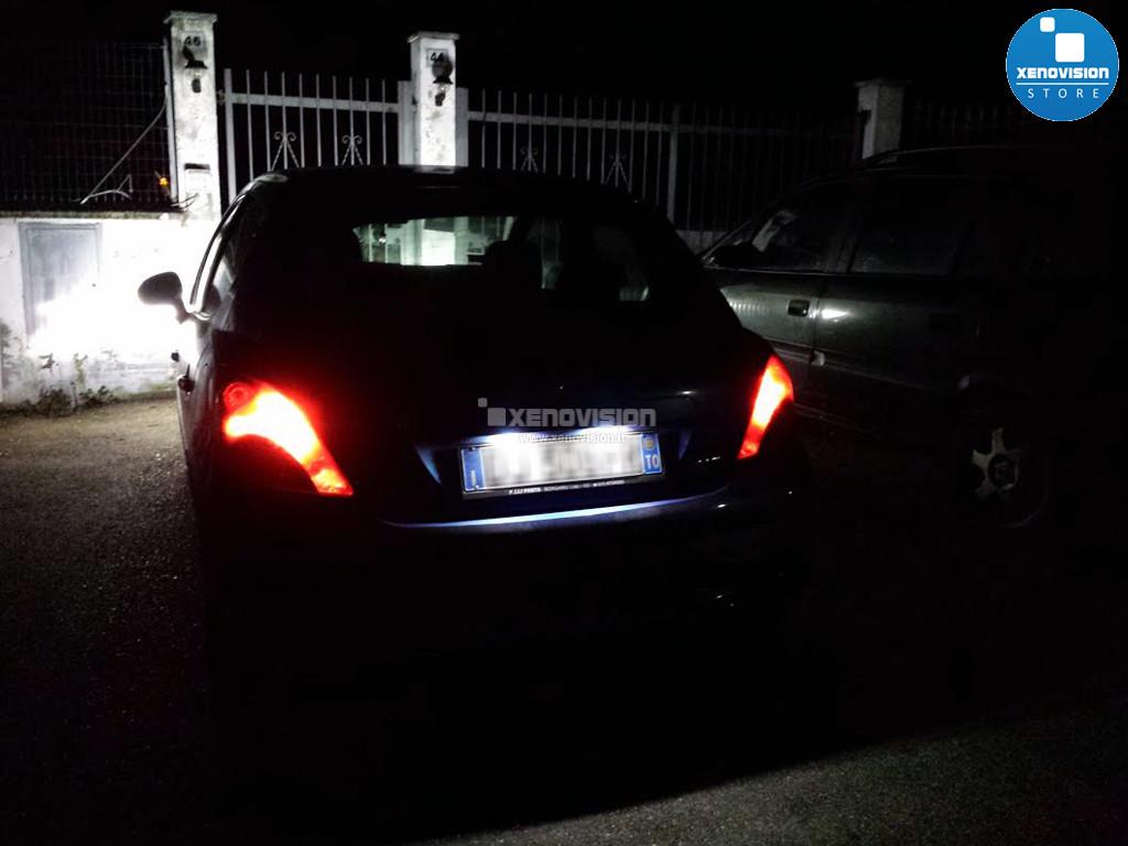 Kit Plafoniere Led Targa Peugeot 206 207 306 307 308 406 407 5008