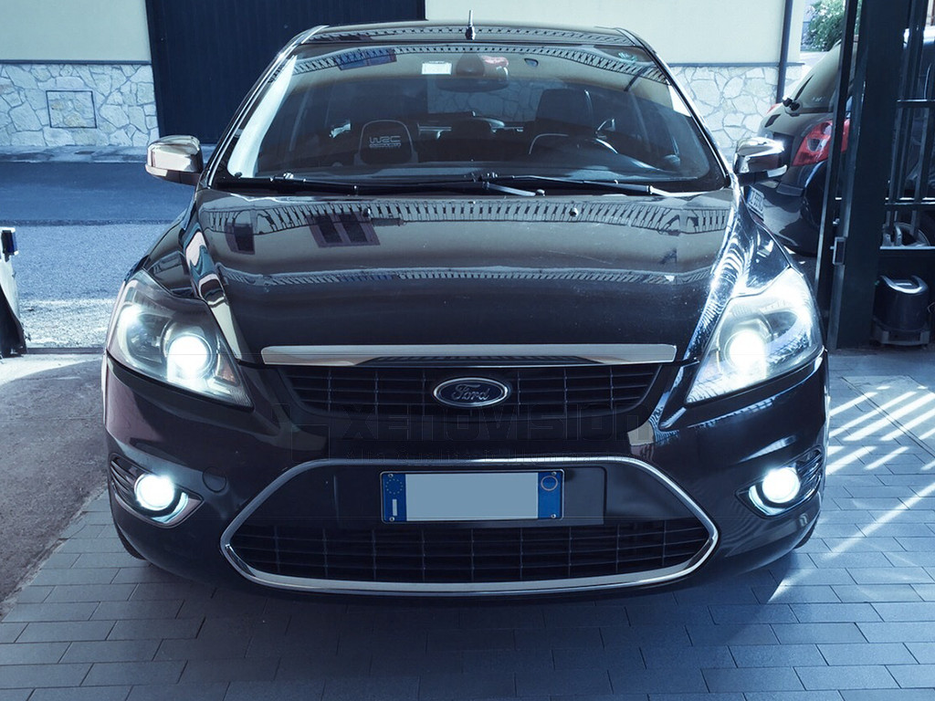 Kit Xenon Ford Focus - Lenticolare - 2004 a 2011 - Xenon 55W e Led - 5000k