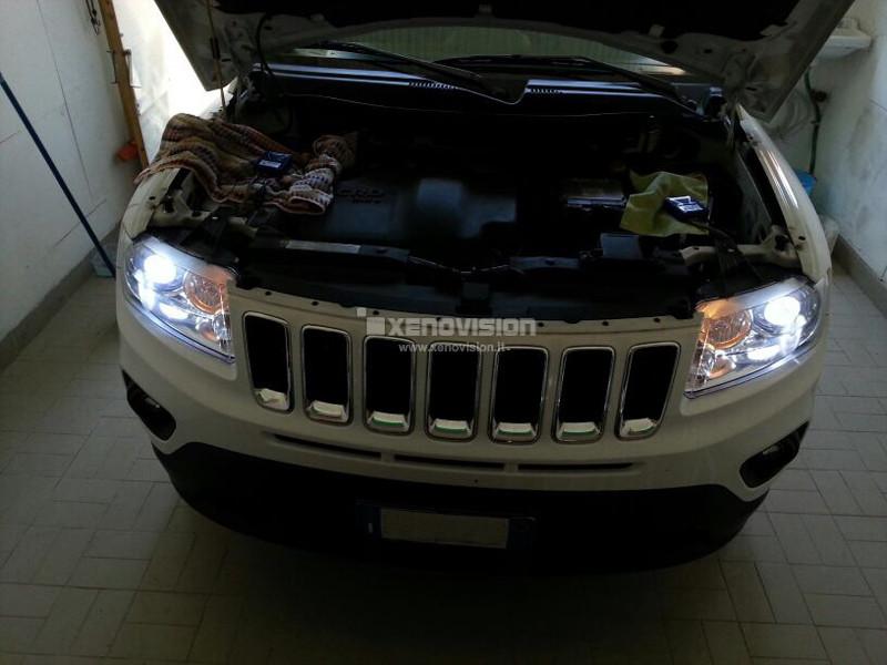 kit xenon jeep compass plug play specifico xenovision. Black Bedroom Furniture Sets. Home Design Ideas