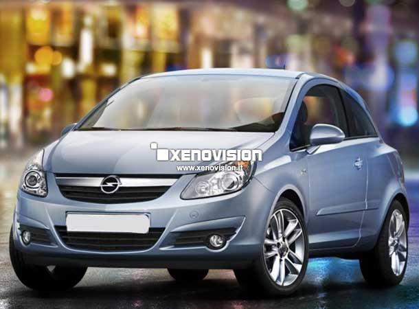 Kit Xenon Opel Corsa D - 2006 a 2010 - Xenon 35W e Posizioni Led - 6000k