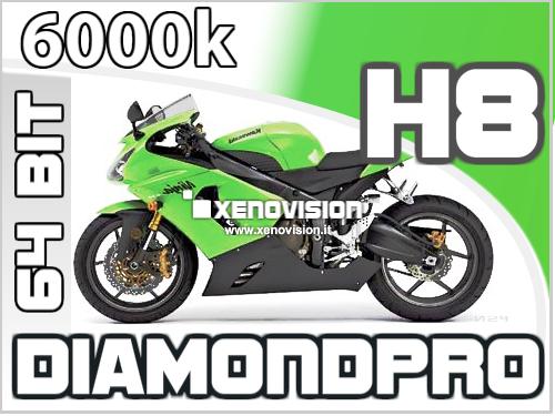 Kit Xenon Slim Moto H8 6000k 35W 64Bit Qualita Xenovision Bianco Lunare
