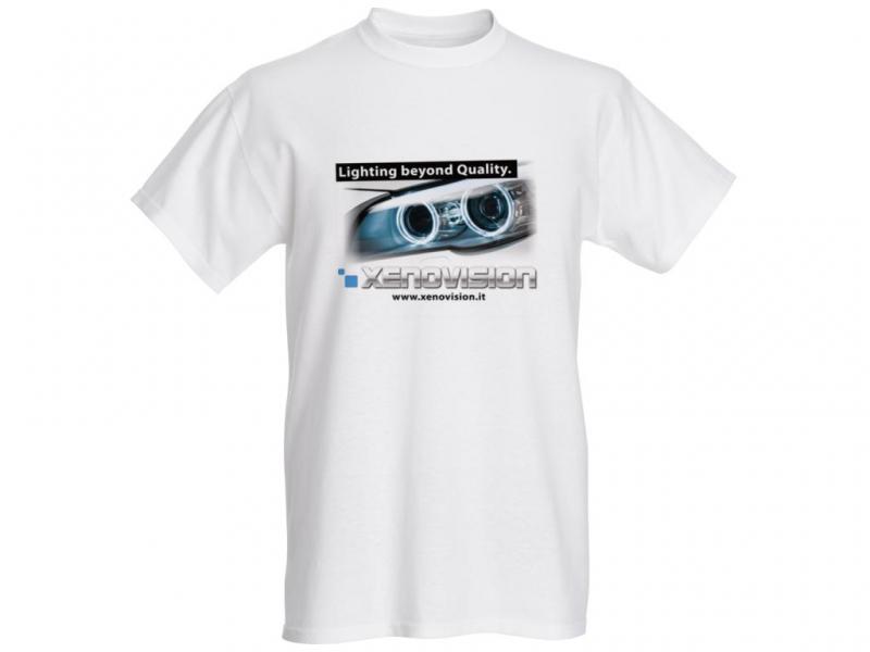 T-Shirt Xenovision - Lighting Beyond Quality - Bianca Tg. L