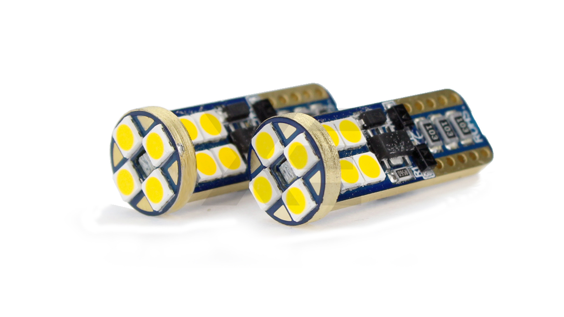 T10 (W5W) Kit LED 360 Gradi Luci Cortesia Bianco Caldo 4500k - XE Gold